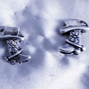 Cowgirl Silver Post Earring